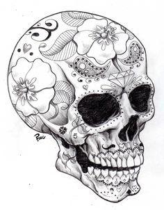 Sugar Skull Coloring Pages Google Search Skulls Caveira