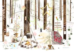 But they don''t ship to the US:( Kerstkaart 2015 - Ruth Hengeveld illustraties Graphic Design Illustration, Illustration Art, Animal Illustrations, Merry Christmas, Photography Illustration, Christmas Illustration, Forest Animals, Illustrators, Paper Art