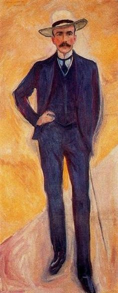 Count Harry Kessler,  1906, by   Edvard Munch