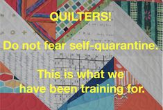 """Though the Coronavirus is no laughing matter, it feels good to chuckle. While at QuiltCon (yes, it was """"eons"""" ago - F. Psalm 91 4, Sewing Blogs, Do Not Fear, Small Quilts, Cool Tones, Palms, Feel Good, Laughing, Verses"""