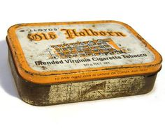 Vintage Tobacco Tin 1950s Old Holborn Blended Virginia Cigarette Tobacco 50g https://www.etsy.com/au/listing/198837611/vintage-tobacco-tin-1950s-old-holborn?ref=shop_home_active_1&utm_content=buffera9b89&utm_medium=social&utm_source=pinterest.com&utm_campaign=buffer #groupGOS