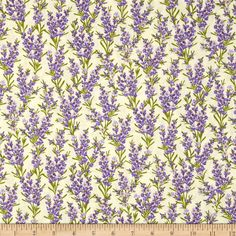 Timeless Treasures Lavender Cream from @fabricdotcom  From Timeless Treasures, this cotton print fabric is perfect for quilting, apparel and home decor accents. Colors include shades of purple, green, cream and orange.