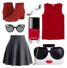 """""""Coco"""" by ltmorris on Polyvore featuring Chicwish, Sam Edelman, Fendi, Alice + Olivia and Chanel"""
