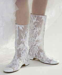 bridal boots by Chanel White Lace Boots, Chanel Boots, Chanel Chanel, Chanel Paris, Pearl And Lace, Linens And Lace, Wedding Shoes, Chanel Wedding, Edgy Wedding