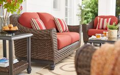 Shop our Patio Furniture Department to customize your Camden Brown Collection today at The Home Depot. Pallet Furniture Easy, Home Furniture, Outdoor Furniture Sets, Outdoor Side Table, Outdoor Coffee Tables, Lanai Decorating, Decorating Ideas, Back Porch Makeover, Porch Chairs
