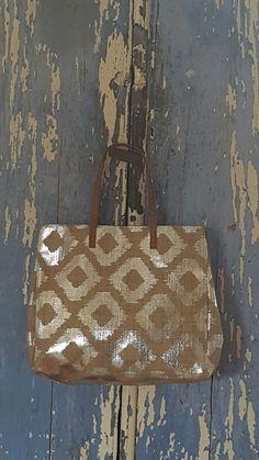 Silver jud tote ikat printed bag