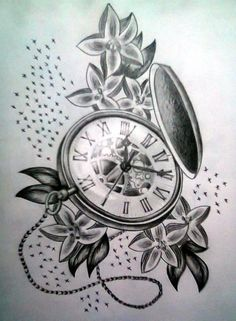 traditional pocket watch tattoo - Google Search