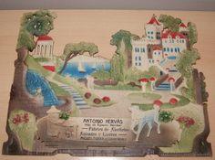 PRECIOSO CARTEL TROQUELADO DE ANTONIO HERVÁS - FÁBRICA DE ALCOHOLES, ANISADOS Y LICORES - AÑO 1917 - Foto 1