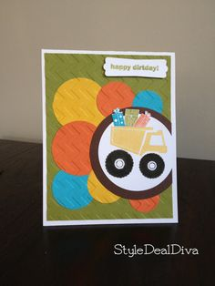 I dig you! Great for any occasion, this card was made using card stocks, stamps, embossing, and punches. The card measures 4.25 x 5.5 and is made