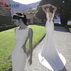 New Arrival Unique Design 2016 White Chiffon Beading Mermaid Long Formal Evening Prom Dresses robe de soiree