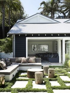Take a look at all of the outdoor rooms nominated for this year's Australian House & Garden Top 50 Rooms competition. Outdoor Areas, Outdoor Rooms, Outdoor Decor, Outdoor Lounge, Indoor Outdoor, Outdoor Bedroom, Outdoor Patios, Outdoor Kitchens, Outdoor Sectional