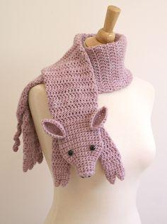 This Little Piggy Scarf Handmade Hand Dyed by BeesKneesKnitting