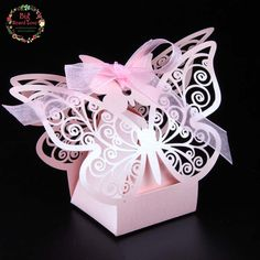 Buy Laser Cut Butterfly Wedding Favor Box Candy Box Gift Box Wedding at Wish - Shopping Made Fun Butterfly Gifts, Butterfly Party, Butterfly Wedding, Quinceanera Favors, Quinceanera Decorations, Wedding Candy Boxes, Wedding Favors, Party Favors, Wedding Decoration Supplies