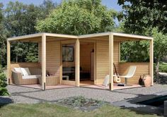 That's how I want the pergola and shed