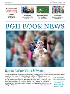 BG Hennessy Books Newsletter  Winter 2015 Issue Book Authors, Story Time, New Books, Childrens Books, School, Winter, Children's Books, Winter Time, Children Books
