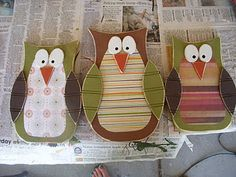 Owls - Wood Craft  Fall/Home Decoration