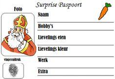 Handig sinterklaas paspoort om lootjes te trekken voor sinterklaas surprise!