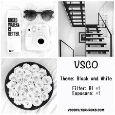 Black and White Instagram Feed Using VSCO Filter B1 More