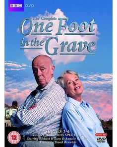 "One Foot in the Grave Complete Series 1 - 6 Plus Christmas Specials Box Set [DVD] official I now am Victor Meldrew lol even my wife said ""That's you that is "" what a great show one of the best British Tv Comedies, British Comedy, English Comedy, Comedy Tv, Comedy Show, Rent Movies, Bbc Tv Shows, Funny Films, Vintage Television"