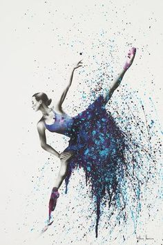 Grapes And Stars by Ashvin Harrison is printed with premium inks for brilliant color and then hand-stretched over museum quality stretcher bars. Money Back Guarantee AND Free Return Shipping. Art Ballet, Ballerina Painting, Ballerina Kunst, Dance Wallpaper, Dark Fantasy Art, Star Painting, Body Painting, Dance Paintings, Star Art