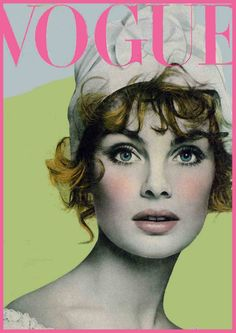 Vogue Cover. Jean Shrimptom by Richard Avedon