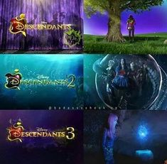 Evolution of descandes Descendants Wicked World, Descendants Characters, Disney Channel Descendants, Descendants Cast, Disney Channel Movies, Disney Channel Stars, Cameron Boyce Descendants, Son Luna, Disney Memes