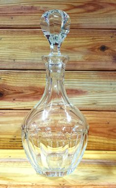 Crystal Cordial Decanter 24 oz Free Shipping by ArtMaxAntiques