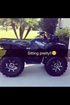 Holy fuck I need a new four wheeler , I need this one Dirt Bike Girl, Girl Motorcycle, Motorcycle Quotes, Country Life, Country Girls, Quad, Architecture Design, Cars And Motorcycles, Triumph Motorcycles