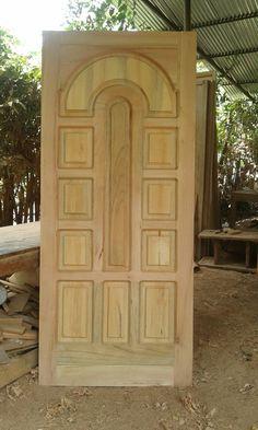 Wooden Front Door Design, Wood Bed Design, Double Door Design, Wooden Front Doors, Bedroom False Ceiling Design, House Front Door, Glass Design, Natural Wood, Gate