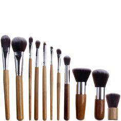 Kit 11 Brochas Profesionales Madera de Bambú - Bliss & Grace | beauteprivee.es