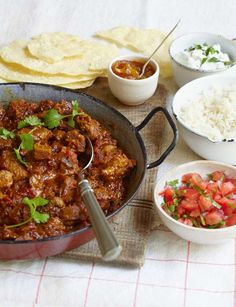 Indian Lamb and Lentil Curry (Dhansak). (Suggestion: Add pineapple chunks.) (Alternate: Use beef in place of the lamb.)