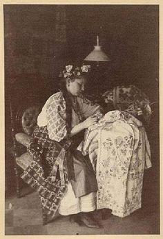 Дівчина. Чернігівська губернія. Світлина - 1893.р.