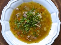Scotch Broth - very simple - serve with an exciting bread or salad -- but very soothing and good!