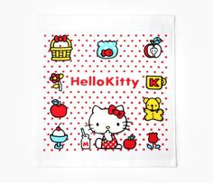 Hello Kitty Wash Towel: Red Dot
