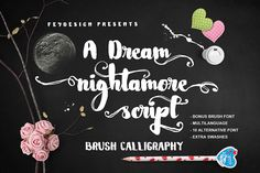 Nightamore Brush is a perfectly imperfect hand-drawn brush font which is great to give a modern vintage calligraphic-style on any designs. This free f...