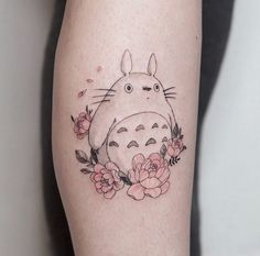 """Hannah Kang🇰🇷 on Instagram: """"TOTORO!! ✨😺🚌🌳🧒🏻🍃 I'm a huge ghibli fan so this was an absolute blast to tattoo! Thank you so much Laura for grabbing this from my available…"""""""