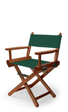 Kidsu0027 Outdoor Chairs   Telescope Casual Childs Director Chair Forest Green  With Walnut Frame *