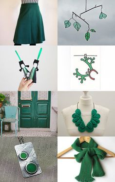 Christmas is Green! by Ana Ribeiro on Etsy--Pinned with TreasuryPin.com #PTteamEtsy #ChristmasColorsProject #EtsyEurope #Portugal