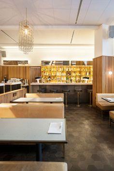 Hoi Polloi bar and restaurant on the ground floor of London's Ace Hotel.