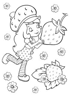 strawberry shortcake coloring pages cherry jam. Strawberry shortcake story is a friendship story of girls with various adventures filled with fantasy and cheerful colors. In the stories, this strawb. Puppy Coloring Pages, Coloring Sheets For Kids, Coloring Pages For Girls, Cartoon Coloring Pages, Flower Coloring Pages, Disney Coloring Pages, Coloring Pages To Print, Coloring Book Pages, Printable Coloring Pages