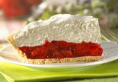 Strawberry Bottom Cheesecake | Keebler® - This all-time-favorite pie features a layer of fresh, juicy strawberries in easy-to use glaze topped by a layer of fluffy, no-bake cheesecake.