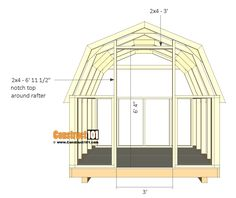 shed plans - small barn - door frame. Wood Shed Plans, Free Shed Plans, Shed Building Plans, Building Ideas, Party Shed, 8x8 Shed, Rustic Shed, Barn Style Shed, Shed Builders
