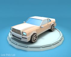 Low Poly luxury Car Download 3D Model