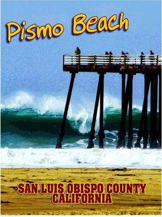 Pismo Beach San Luis Obispo California United States Trvel Advertisement Poster
