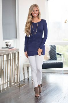 We are in love with this beautifully versatile tunic!