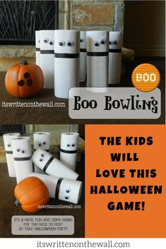 A Ghostly Halloween Party Game that's Fun for the kids Fun Halloween Activities, Halloween Party Games, Halloween Kids, Fun Games For Kids, Kids Party Games, Safe Games, Staff Gifts, Employee Gifts, Bowling Ball