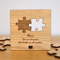 Mum You Are The Piece That Holds Us All Together Jigsaw Puzzle Piece Plaque Sign - Pretty Personalised