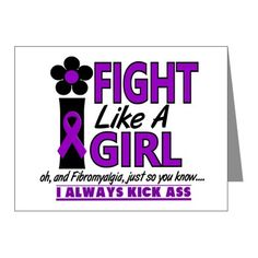 Fight Like A Girl Fibromyalgia Note Cards (Pk of 2