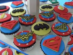Justice League Cupcakes By anna_bananna on CakeCentral.com