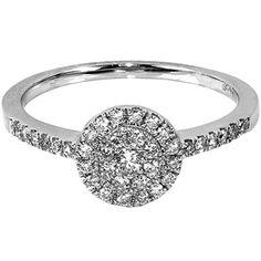 1/3 Carat T.W. Round Diamond 10kt White Gold Engagement Ring